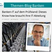 Günter Keilhammer Bankexperte und Seminartrainer aus München, Beitrag im Bank Blog vom Managment Circle